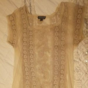 Gorgeous Topshop cream lace dress